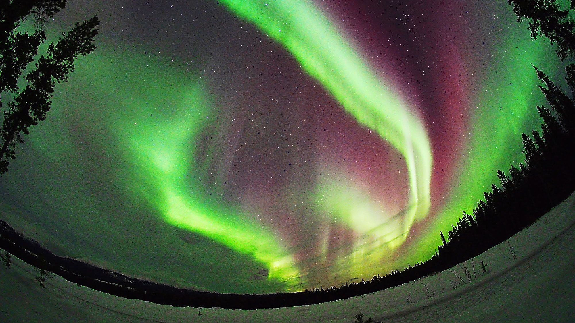 Breathtaking view of the Aurora Borealis in the Canada Territories