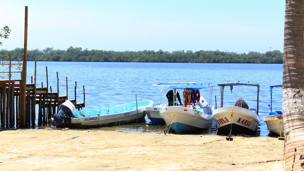 Boats on water in Mexico