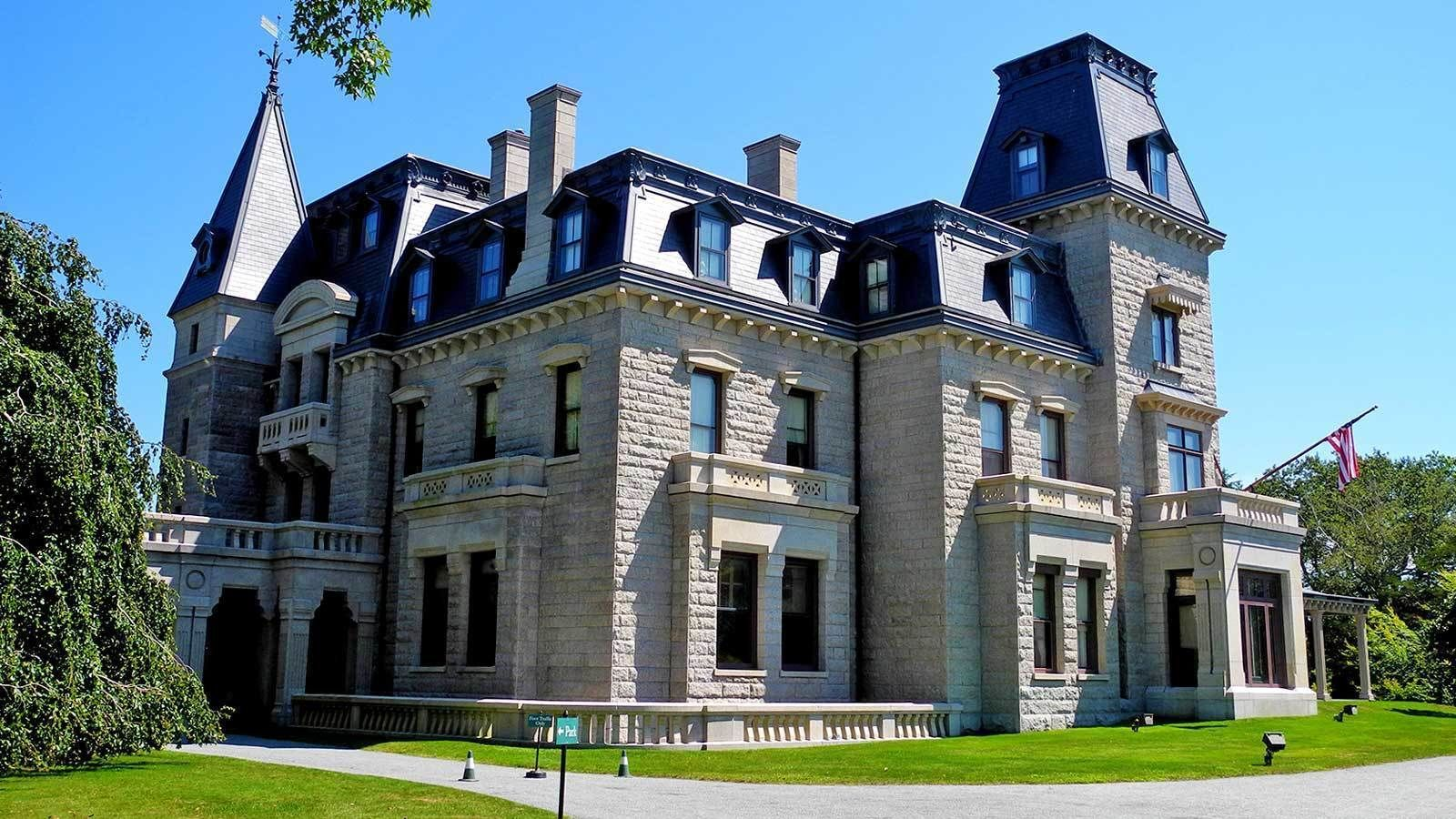 outside of a large mansion in Newport