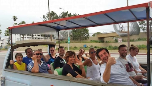 Group enjoying a city tour of Los Angeles
