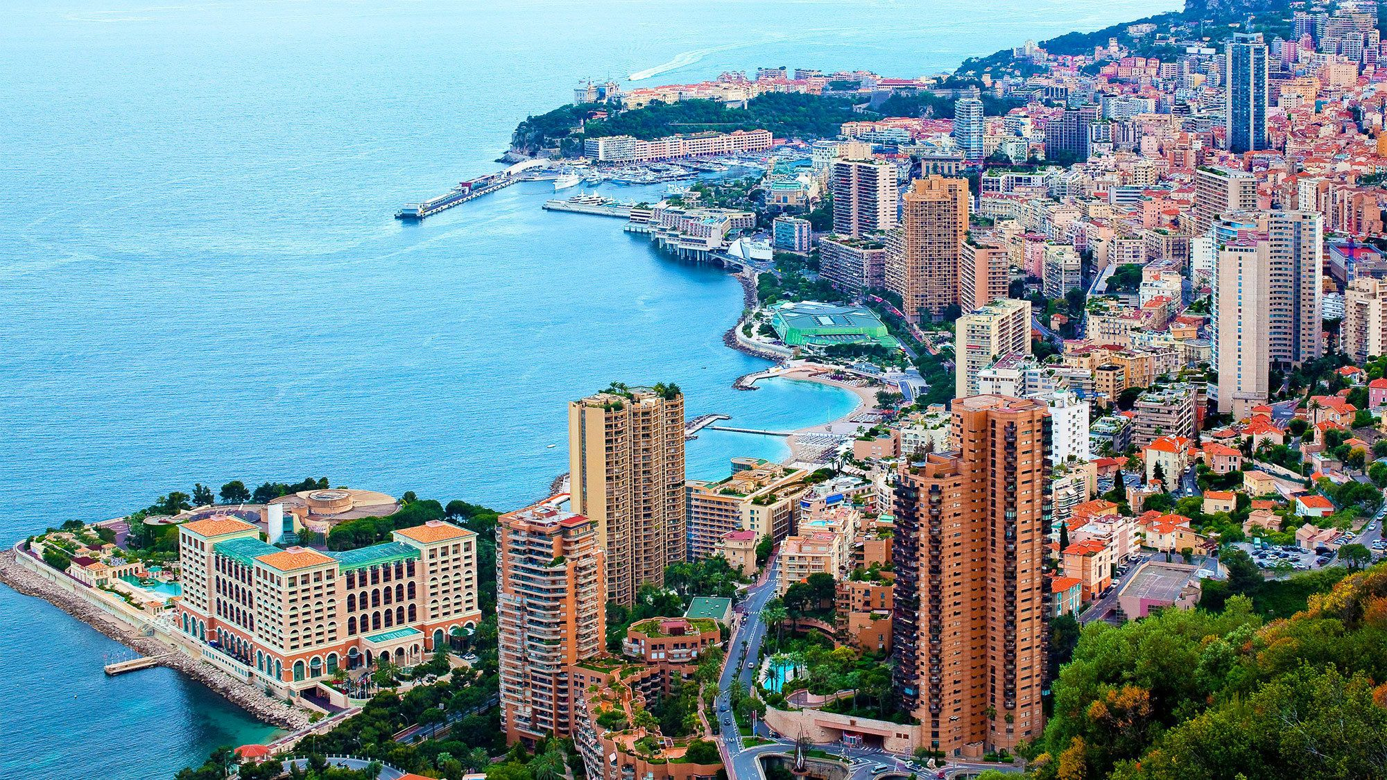 Aerial view of the French Riviera