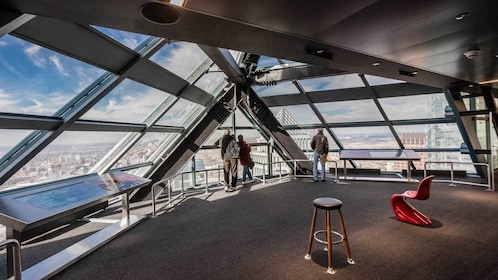 small group in the observation deck in Philadelphia