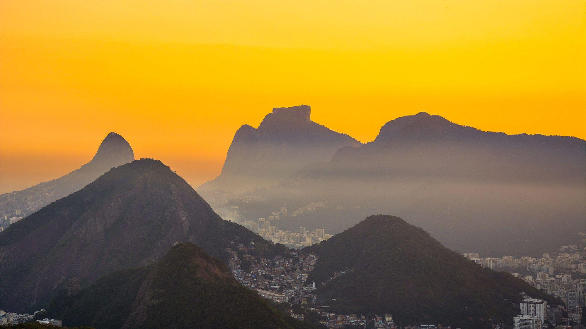 Sunset view of Rio de Janeiro