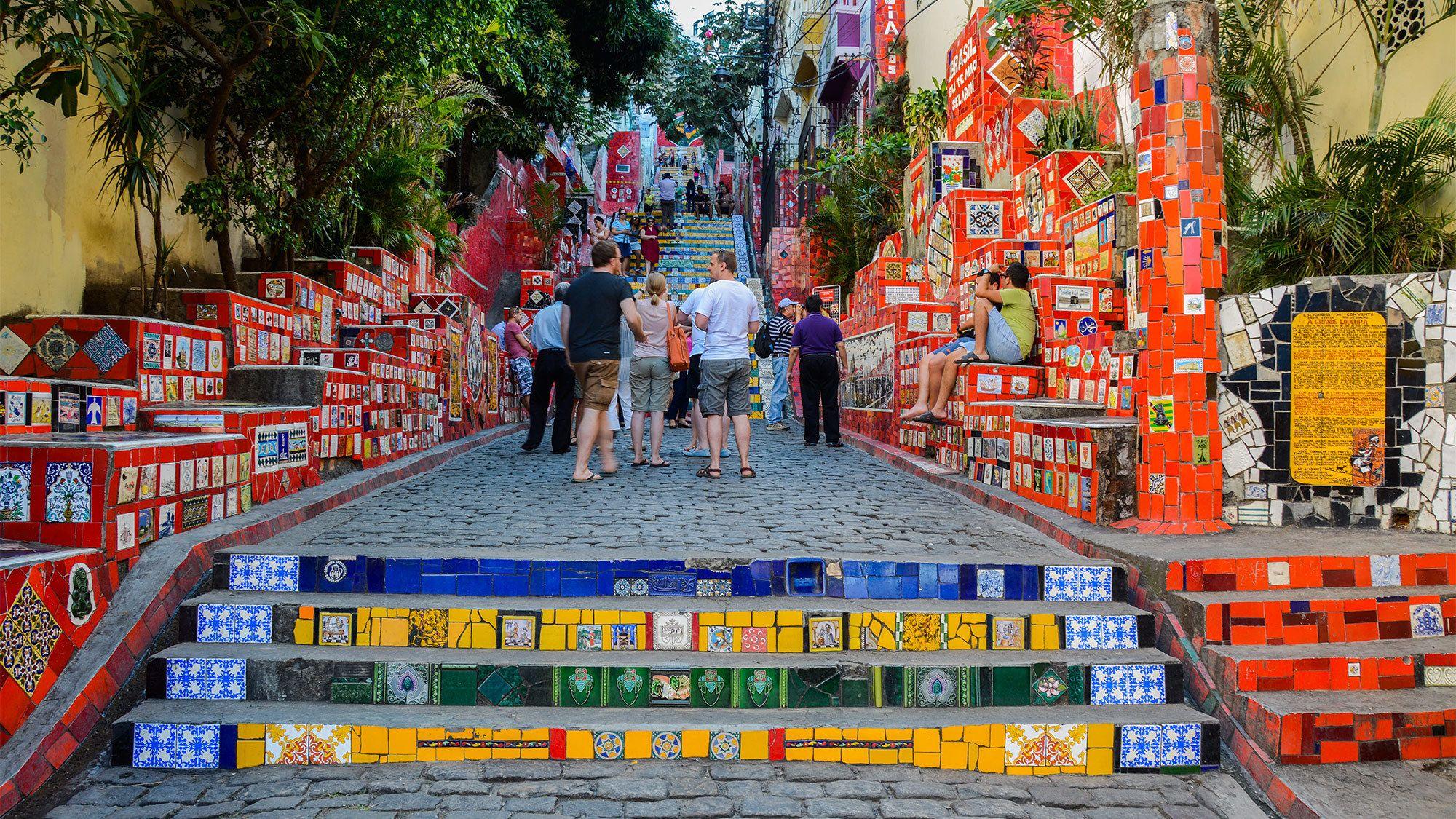 Vibrant steps in Rio de Janeiro