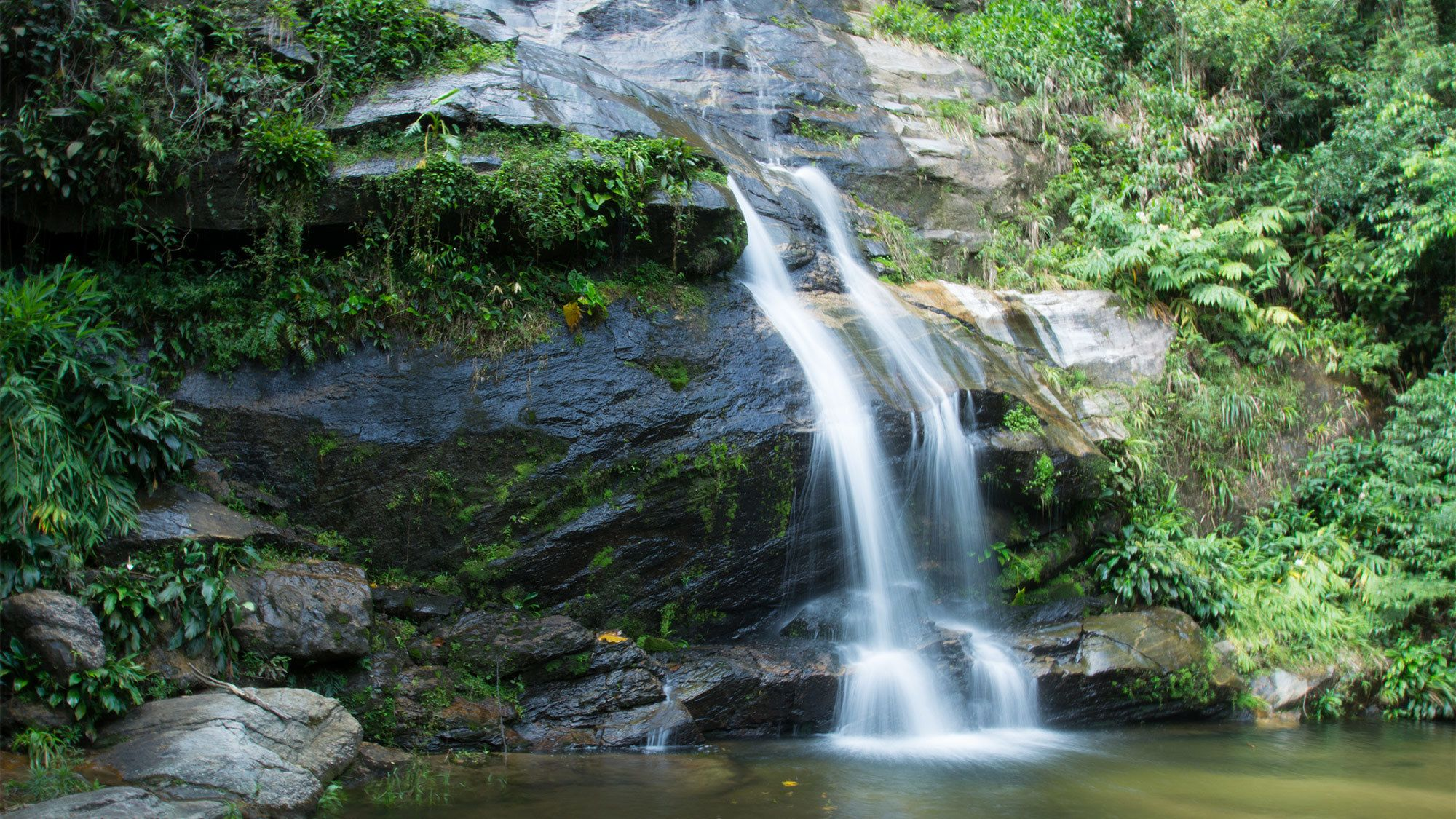 Waterfalls at the Tijuca Forest in Brazil