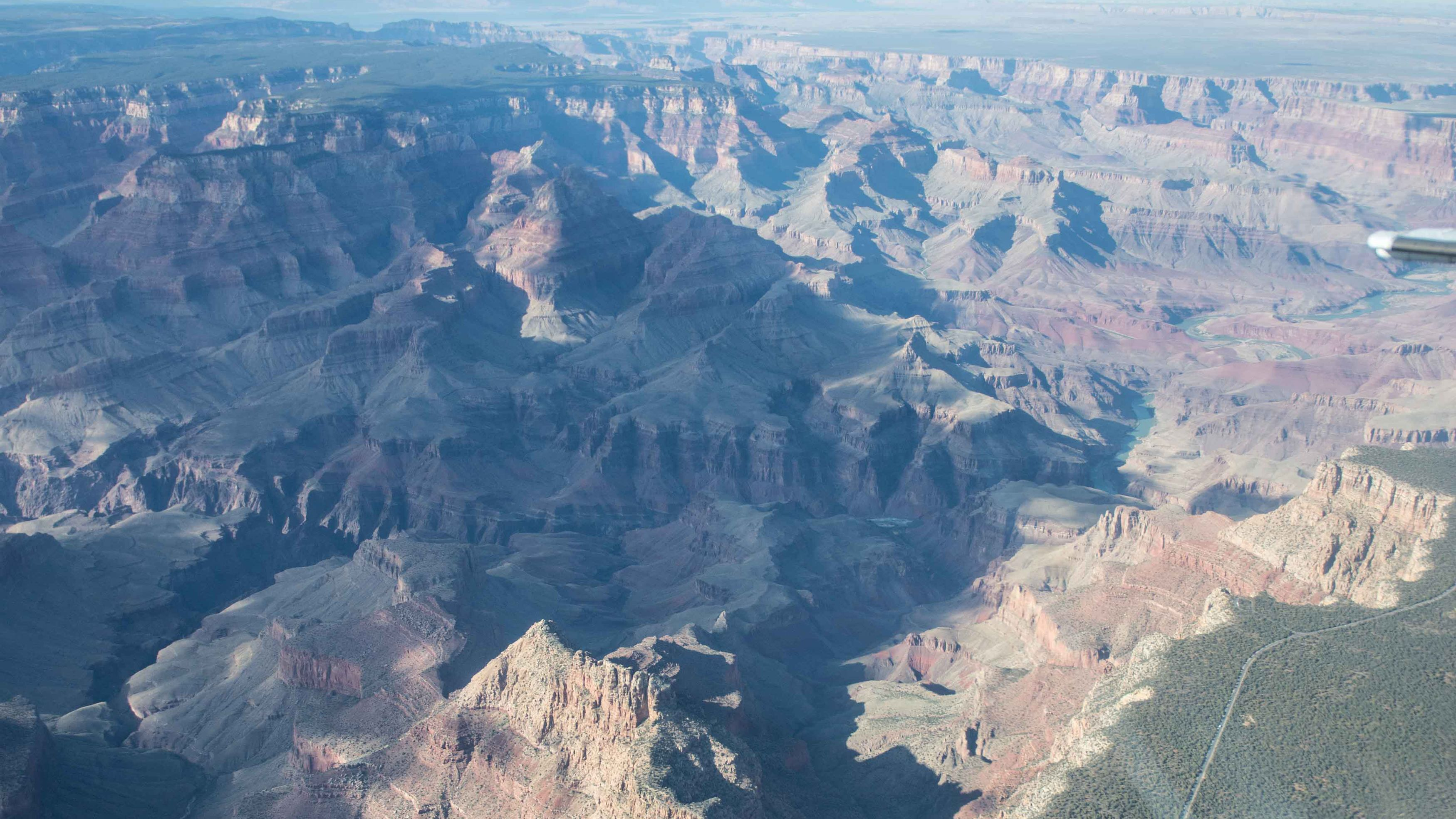The Grand Canyon aerial view