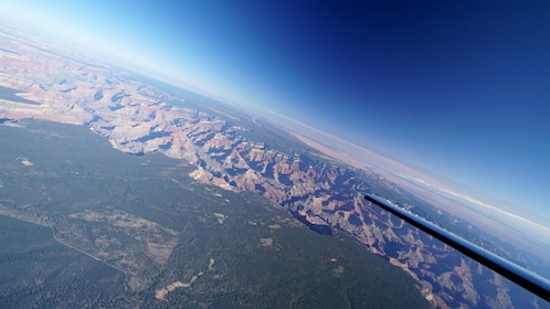 View of the Grand Canyon from an airplane
