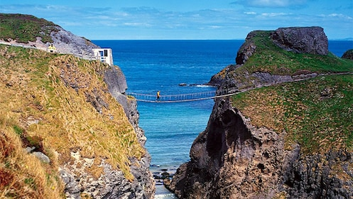 Carrick-a-Rede Rope Bridge the simple suspension bridge in Northern Ireland