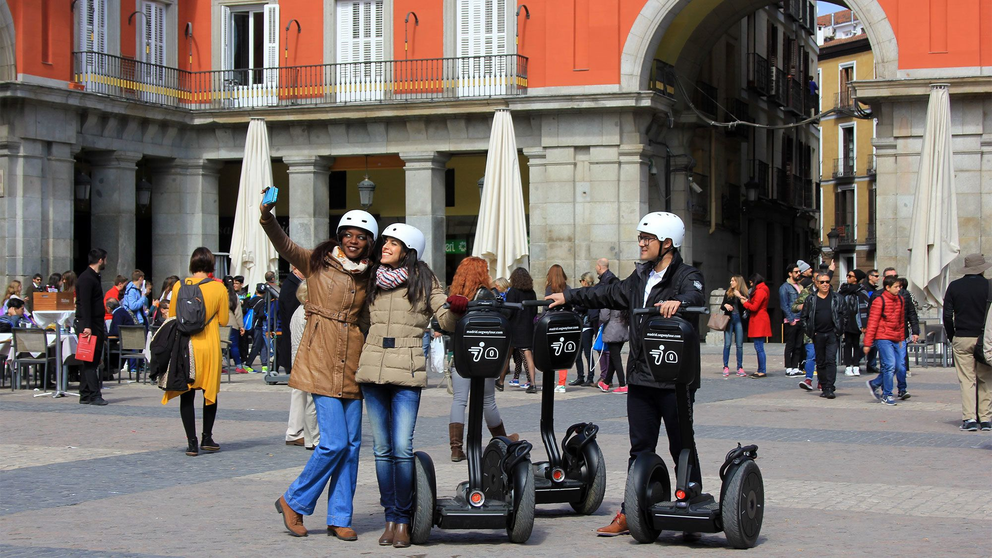 Group enjoying the Barcelona Segway Tour