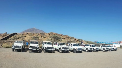 Row of jeeps in Tenerife