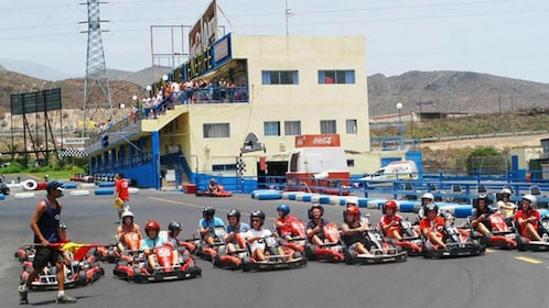 kart riders lined up