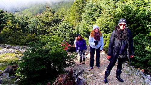 Ladies Trekking in the National Park of Mt. Parnitha in Greece