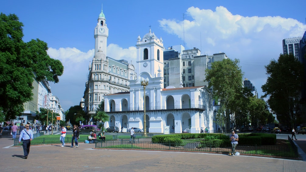 Church with bell tower in Buenos Aires