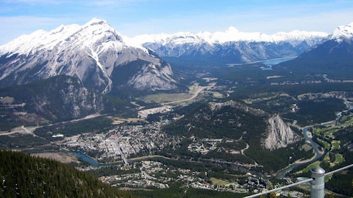 Mountains and town of Banff