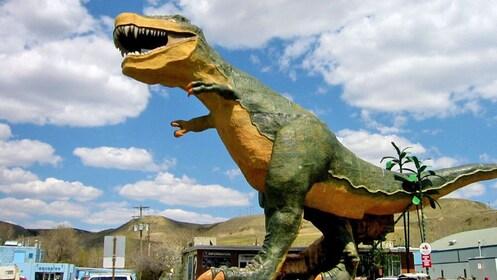 a dinosaur sculpture in Canada