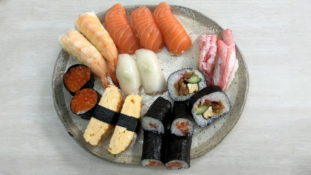 Show item 5 of 5. Plate of sushi