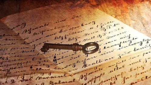 skeleton key on an old letter in Tucson