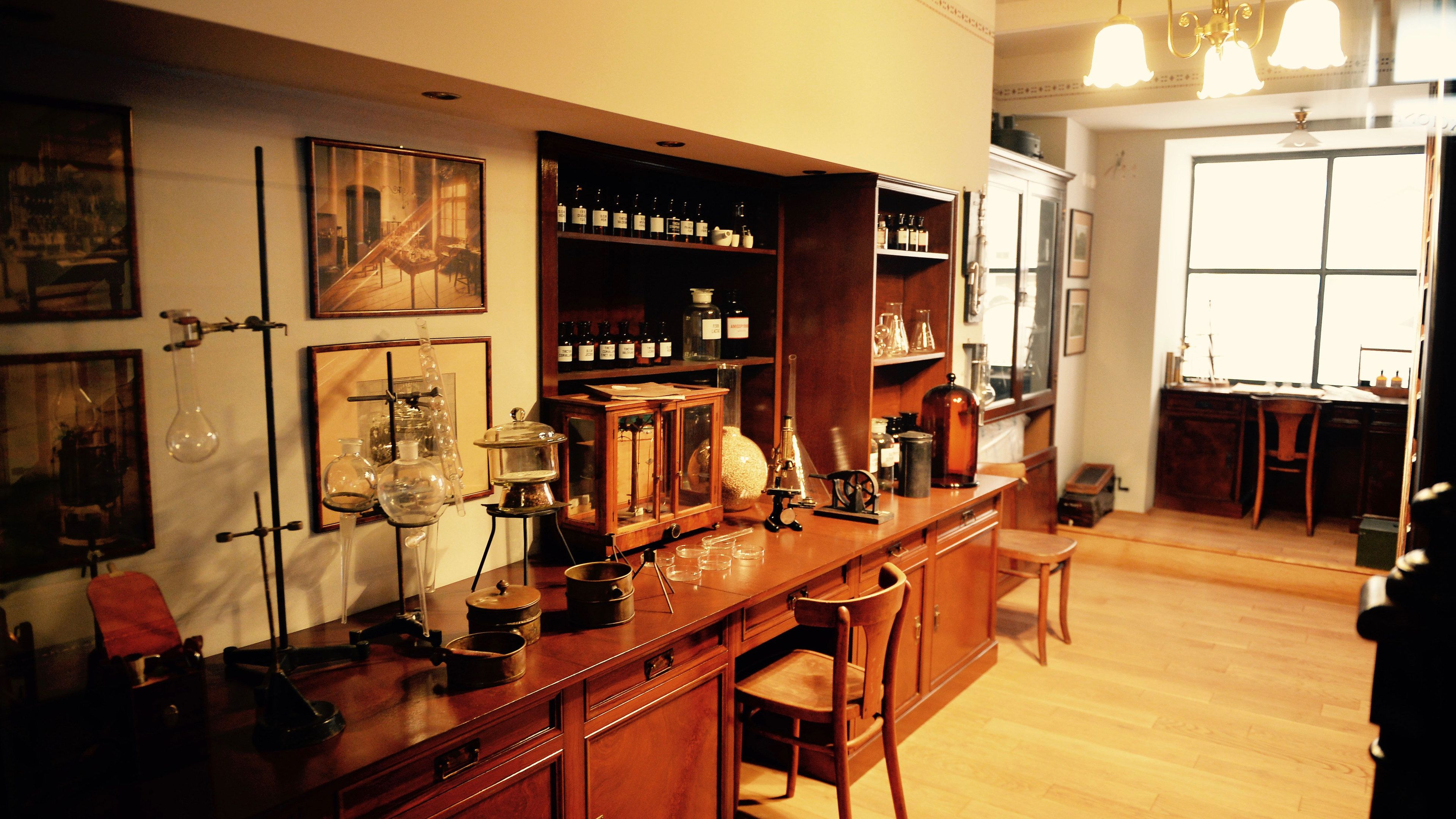 Replica of an old-fashioned science lab in Prague