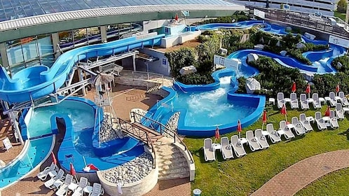 waterpark outside the pool facilities in Prague