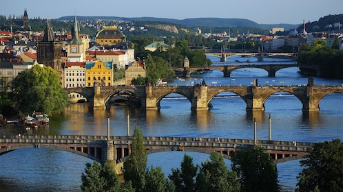 Serene view of the waters on the Prague Historical City Tour