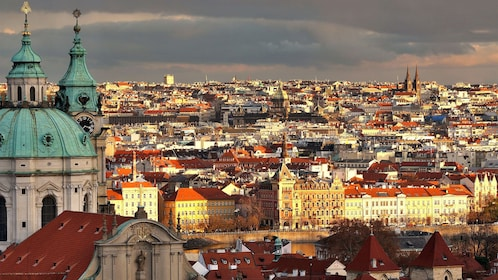 Panoramic view of the city on the Prague Historical City Tour