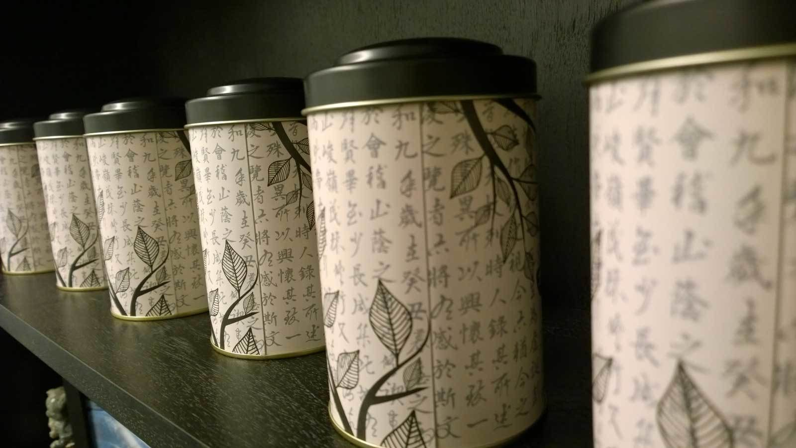 cans of tea on the shelf in Denver