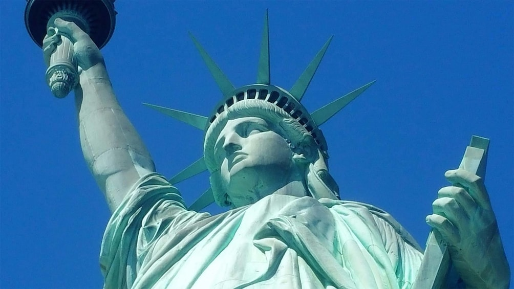 Show item 1 of 7. Statue of Liberty and Ellis Island in New York, NY (Manhattan)