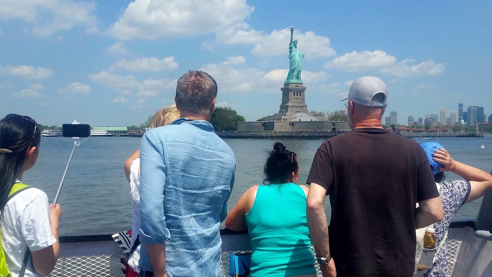 Show item 2 of 7. Statue of Liberty and Ellis Island in New York, NY (Manhattan)