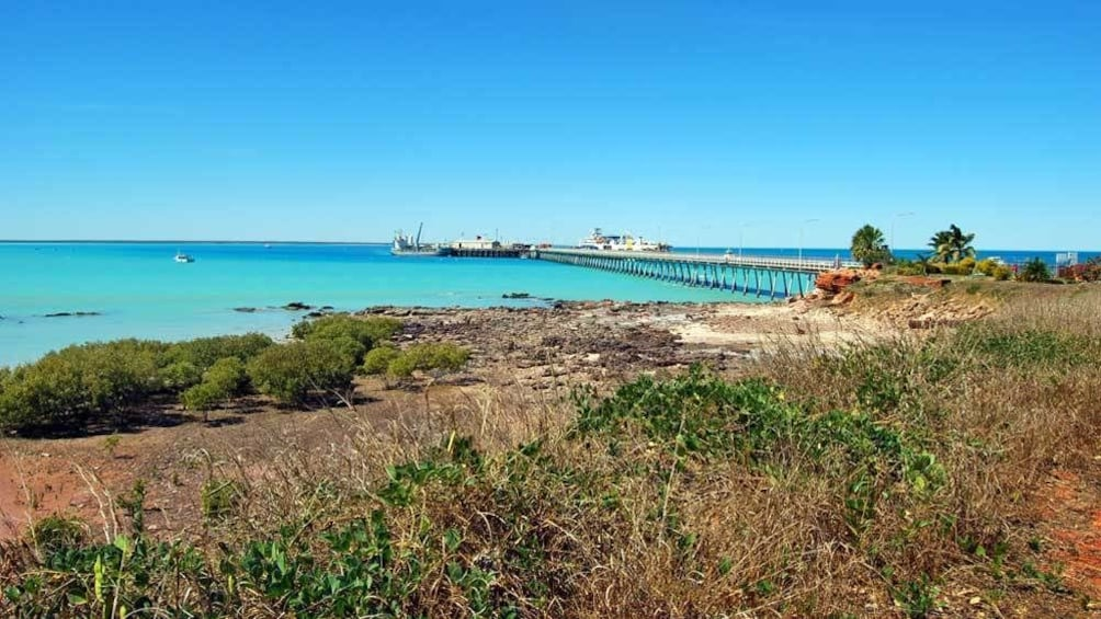 Show item 2 of 4. walking along the beach in Broome Pearl
