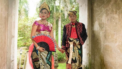couple in traditional outfits in Bali