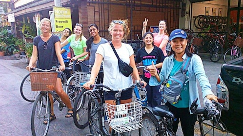 Bicycling group in Chiang Mai
