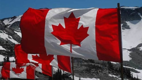 Canadian Flags at Whistler