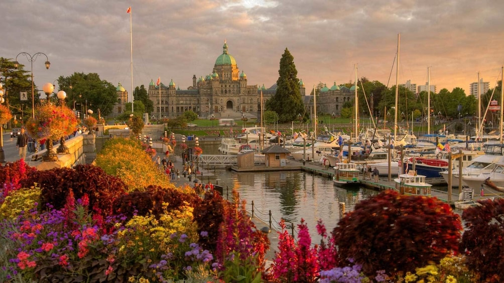Show item 2 of 5. Gardens and marina on the coast of Victoria