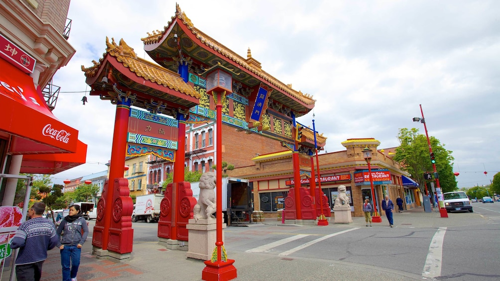 Show item 4 of 5. Chinatown arch in Victoria