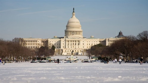Capitol Building in winter in Washington DC