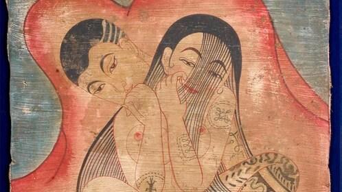 Painting at the Kamavijitra Museum in Bangkok, Thailand