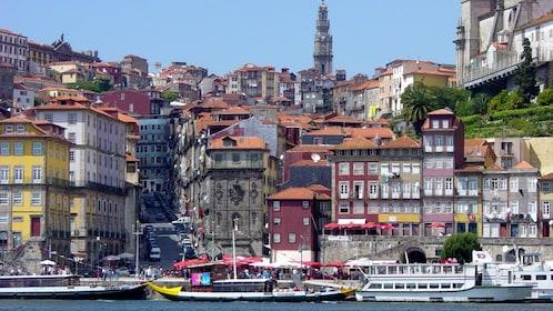 Oporto harbor in Portugal