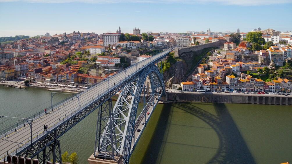 Show item 5 of 8. Bridge into Oporto Portugal