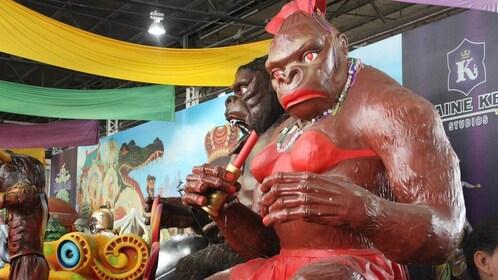 gorilla sculpture parade float in New Orleans