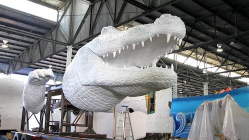parade float sculpture in progress in New Orleans