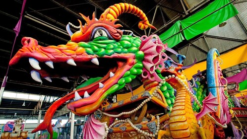 dragon themed parade float in New Orleans