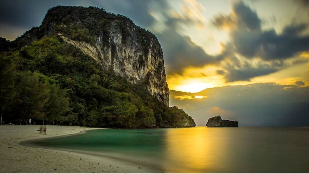 Show item 3 of 5. Sunset view of a beautiful Krabi island in Thailand