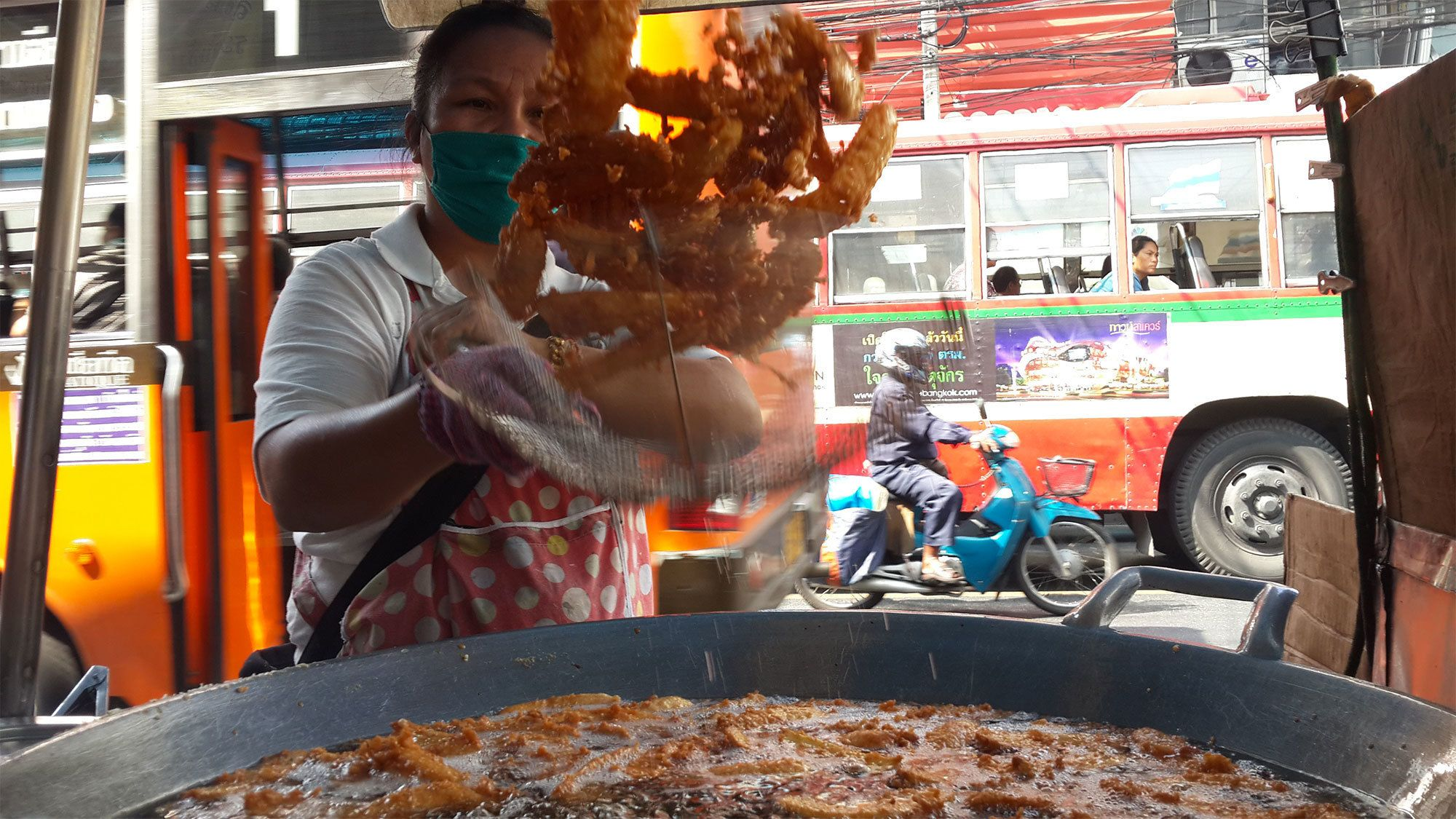 Fried food in Bangkok