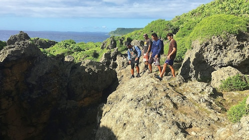 people on a hike