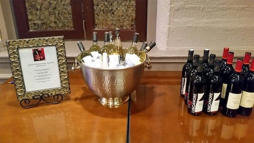 Bottles of wine at a winery in Baltimore
