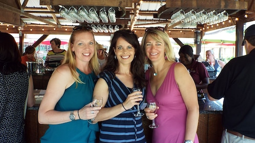 Women tasting wine at a winery in Baltimore
