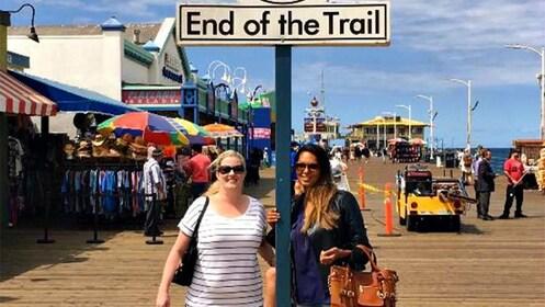 Two ladies enjoying the trail in Santa Monica in California
