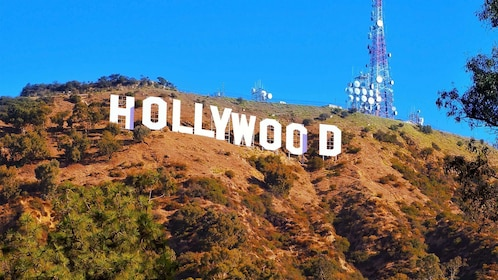 The hollywood sign seen on the Los Angeles Highlights Tour