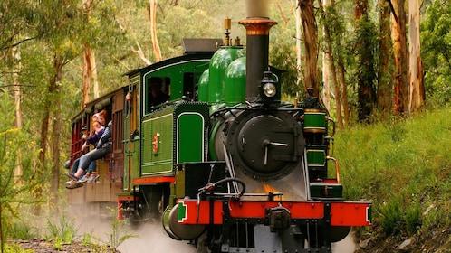 Show item 1 of 5. Steam train in Dandegnong
