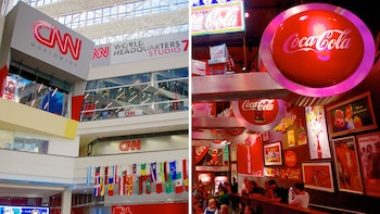 Visite combinée de World of Coca Cola et du CNN Center avec transport